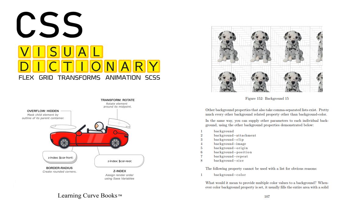 css book, css visual dictionary